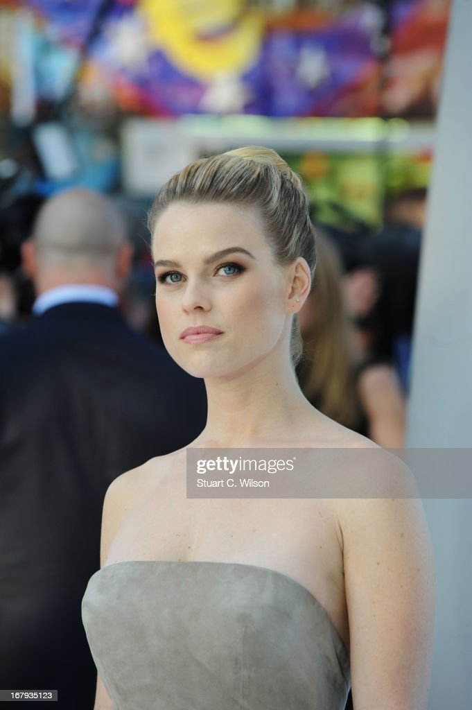 Actress Alice Eve attends the UK Premiere of 'Star Trek Into Darkness' at The Empire Cinema on May 2, 2013 in London, England.