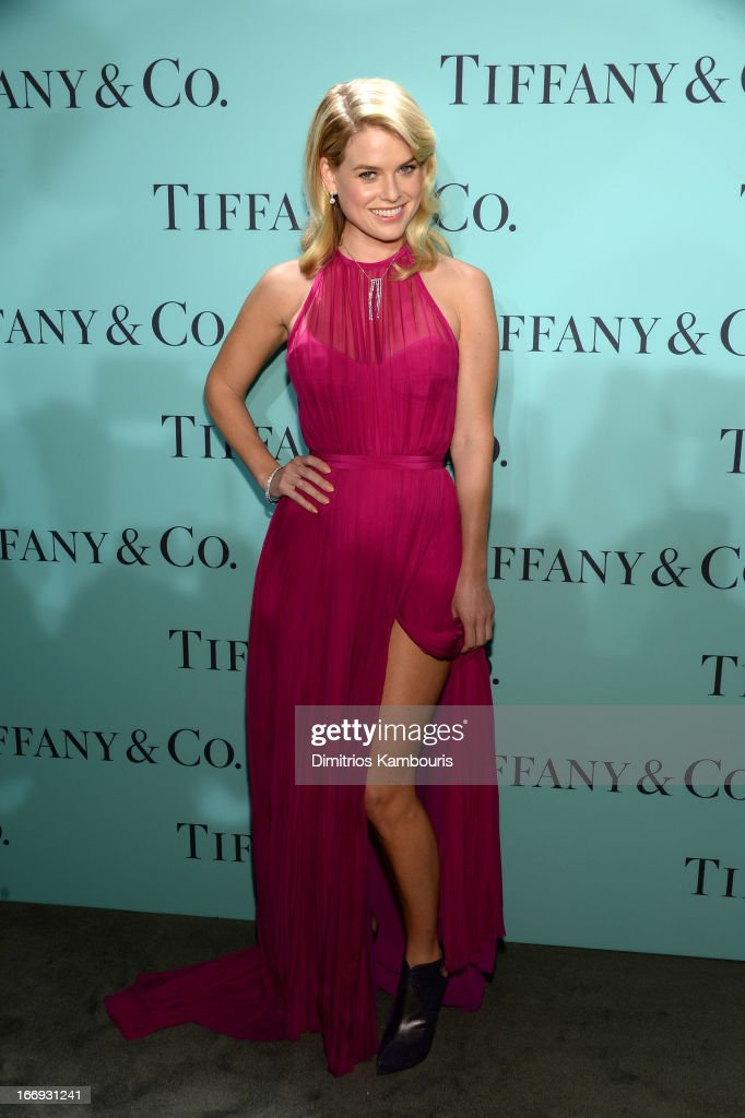 Actress Alice Eve is wearing Diamonds from the Tiffany & Co. 2013 Blue Book Collection as she attends the Tiffany & Co. Blue Book Ball at Rockefeller Center on April 18, 2013 in New York City.