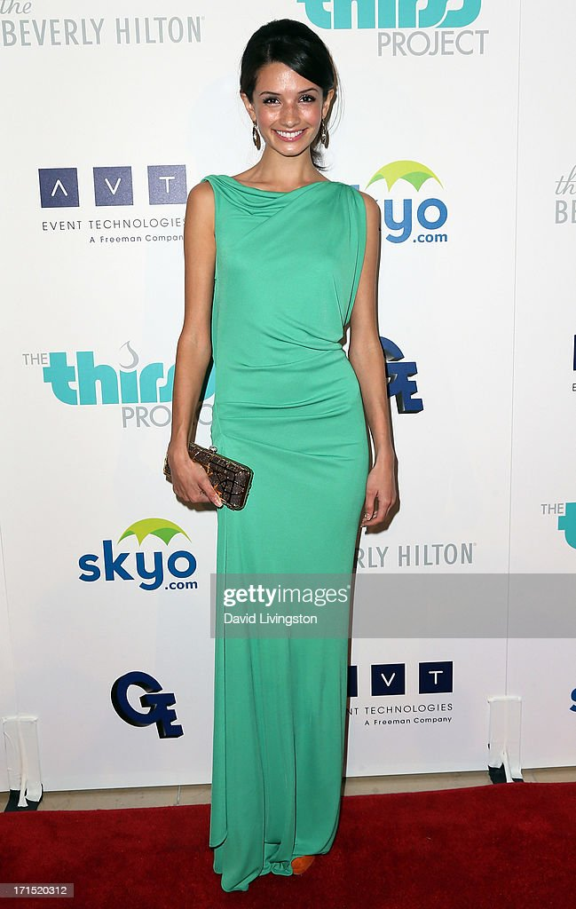 Actress <a gi-track='captionPersonalityLinkClicked' href=/galleries/search?phrase=Alice+Greczyn&family=editorial&specificpeople=1009771 ng-click='$event.stopPropagation()'>Alice Greczyn</a> attends the 4th Annual Thirst Gala at The Beverly Hilton Hotel on June 25, 2013 in Beverly Hills, California.