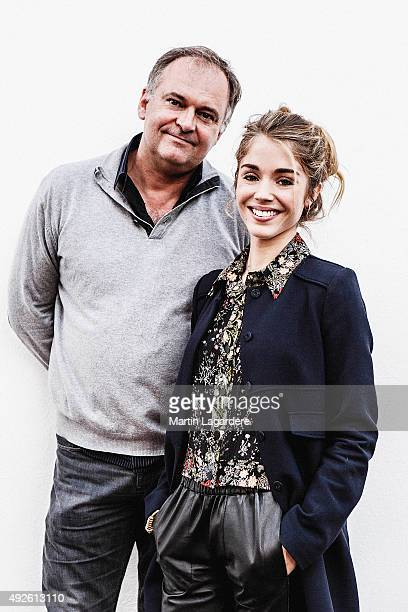 Actress Alice Isaaz and director Christian Carion are photographed for Self Assignment on October 5 2015 in Saint Jean de Luz France