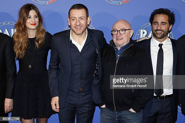 Actress Alice Pol Actor and Director Dany Boon Actor Michels Blanc and Actor Florent Peyre attend 'Raid Dingue' Paris Premiere at Cinema Pathe...