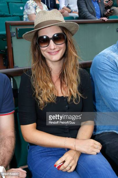Actress Alice Pol attends the 2017 French Tennis Open Day Thirteen at Roland Garros on June 9 2017 in Paris France
