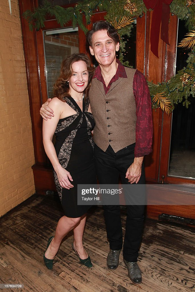 Actress <a gi-track='captionPersonalityLinkClicked' href=/galleries/search?phrase=Alice+Ripley&family=editorial&specificpeople=2159161 ng-click='$event.stopPropagation()'>Alice Ripley</a> and actor Bob Stillman attend the after party for the opening night of 'A Civil War Christmas' at Phebe's on December 4, 2012 in New York City.