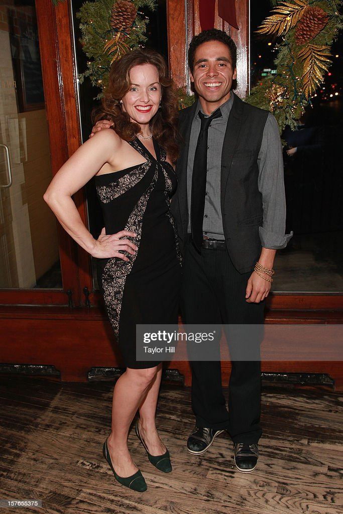 Actress <a gi-track='captionPersonalityLinkClicked' href=/galleries/search?phrase=Alice+Ripley&family=editorial&specificpeople=2159161 ng-click='$event.stopPropagation()'>Alice Ripley</a> and actor Jonathan-David attend the opening night after-party for 'A Civil War Christmas' at Phebe's on December 4, 2012 in New York City.