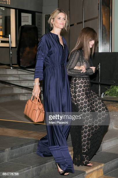 Actress Alice Taglioni and Albane Cleret are seen leaving the JW Marriott hotel during the 70th annual Cannes Film Festival on May 18 2017 in Cannes...