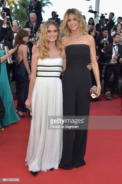 Actress Alice Taglioni and model Dolores Doll attend the 'Ismael's Ghosts ' screening and Opening Gala during the 70th annual Cannes Film Festival at...