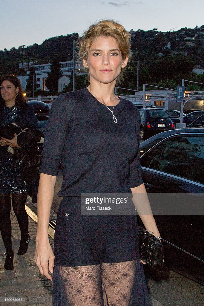 Actress <a gi-track='captionPersonalityLinkClicked' href=/galleries/search?phrase=Alice+Taglioni&family=editorial&specificpeople=2081314 ng-click='$event.stopPropagation()'>Alice Taglioni</a> arrives to attend the 'Vanity Fair Chanel' dinner at 'Tetou' restaurant during the 66th Annual Cannes Film Festival on May 19, 2013 in Le Golfe Juan, France.
