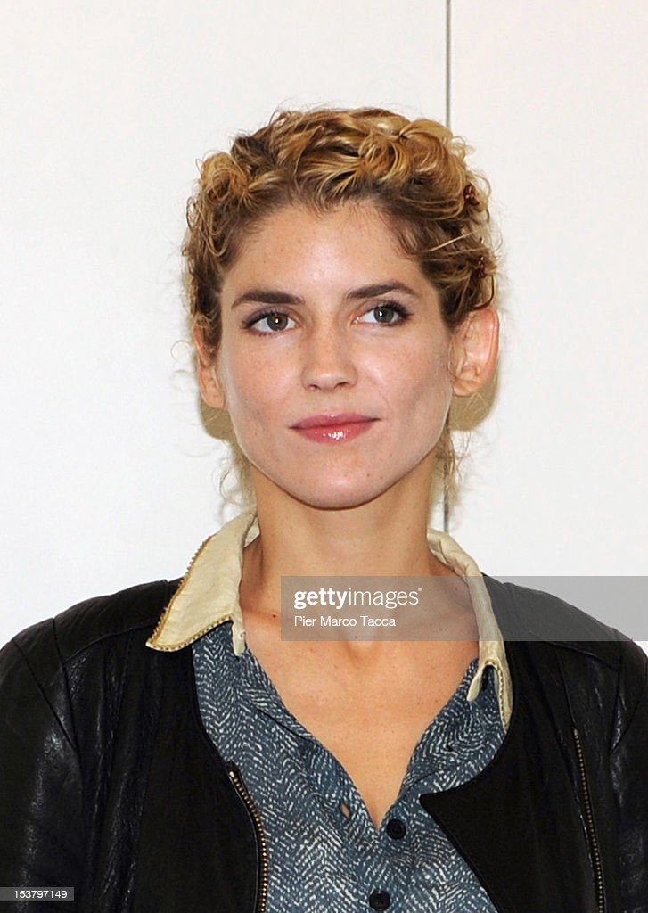Actress <a gi-track='captionPersonalityLinkClicked' href=/galleries/search?phrase=Alice+Taglioni&family=editorial&specificpeople=2081314 ng-click='$event.stopPropagation()'>Alice Taglioni</a> attends a photocall for 'Paris - Manhattan' on October 9, 2012 in Milan, Italy.
