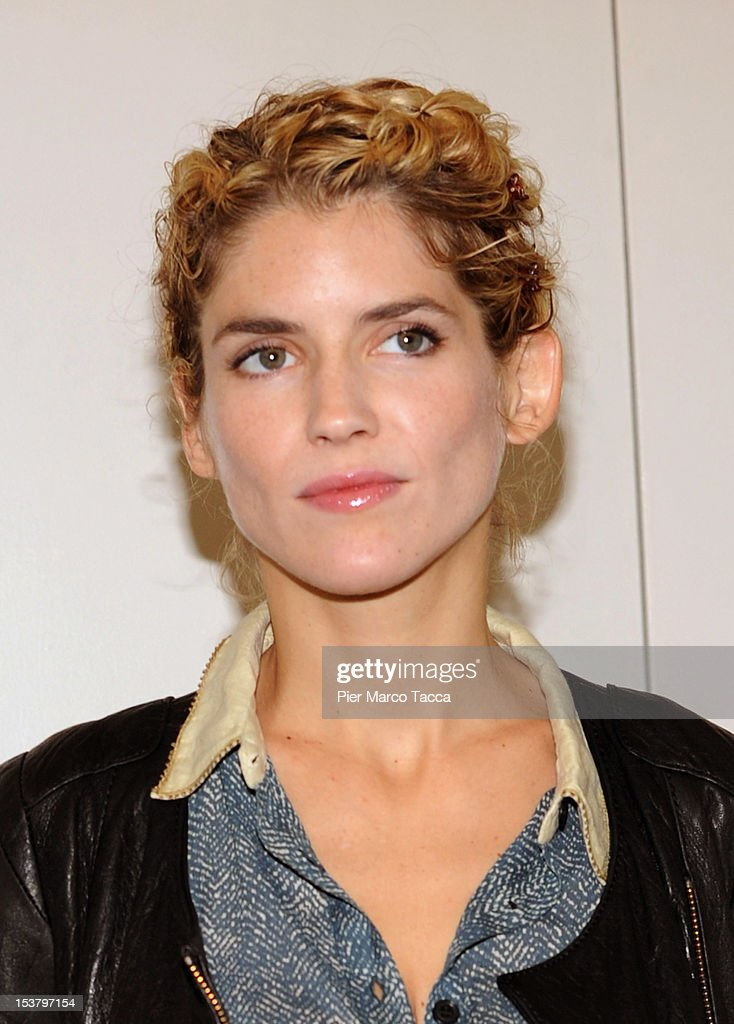 Actress Alice Taglioni attends a photocall for 'Paris - Manhattan' on October 9, 2012 in Milan, Italy.