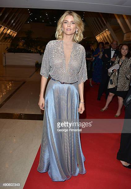 Actress Alice Taglioni attends the attends the Opening Ceremony Dinner at the 67th Annual Cannes Film Festival on May 14 2014 in Cannes France