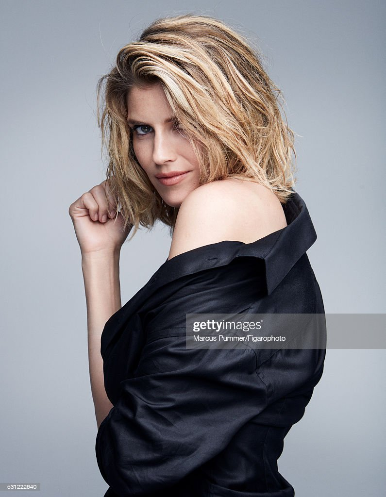 Actress Alice Taglioni is photographed for Madame Figaro on April 7, 2016 in Paris, France. Shirt (Giorgio Armani). Make-up by Nars Cosmetics. PUBLISHED IMAGE.