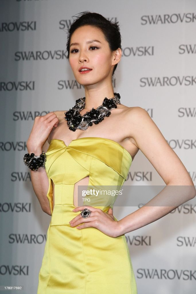 Actress Alice Zeng attends fashion show of SWAROVSKI on Wednesday August 28,2013 in Taipei,China.