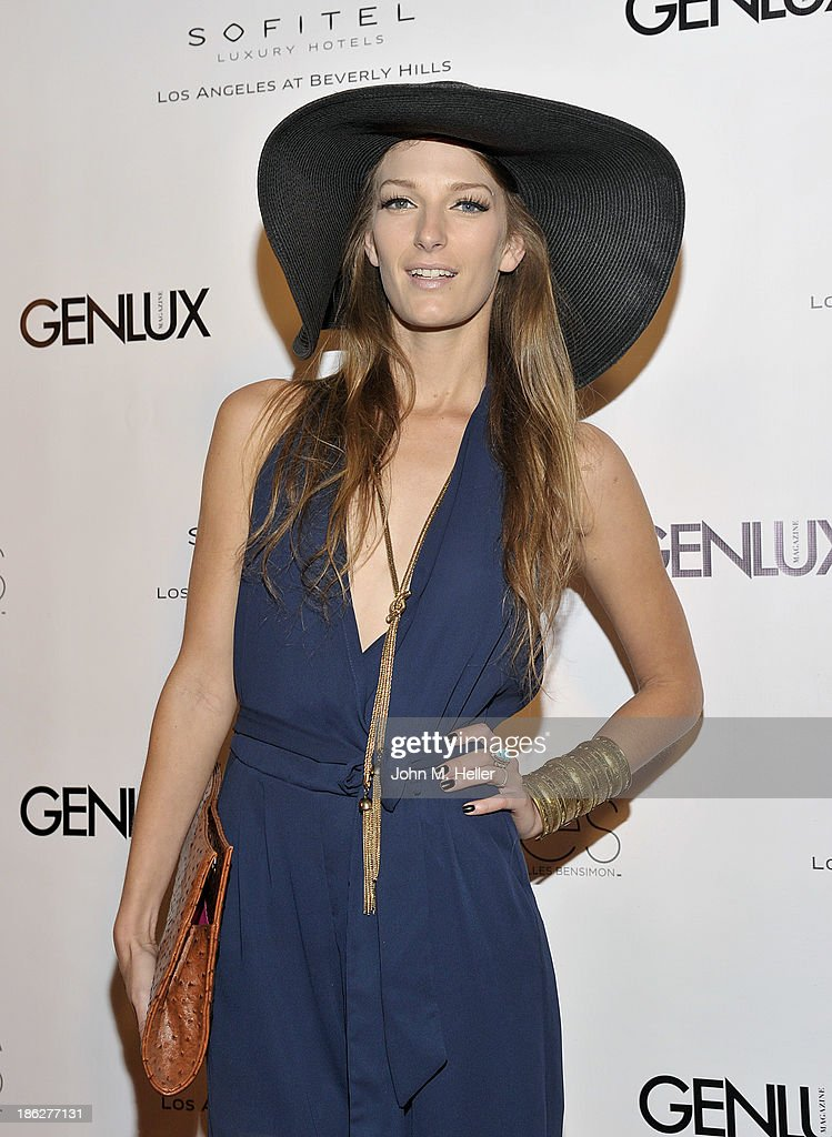 Actress Alicia Barrett attends Genlux Magazine's Hosting of Photographer Gilles Bensimon's portraits at the Sofitel Hotel on October 29, 2013 in Los Angeles, California.