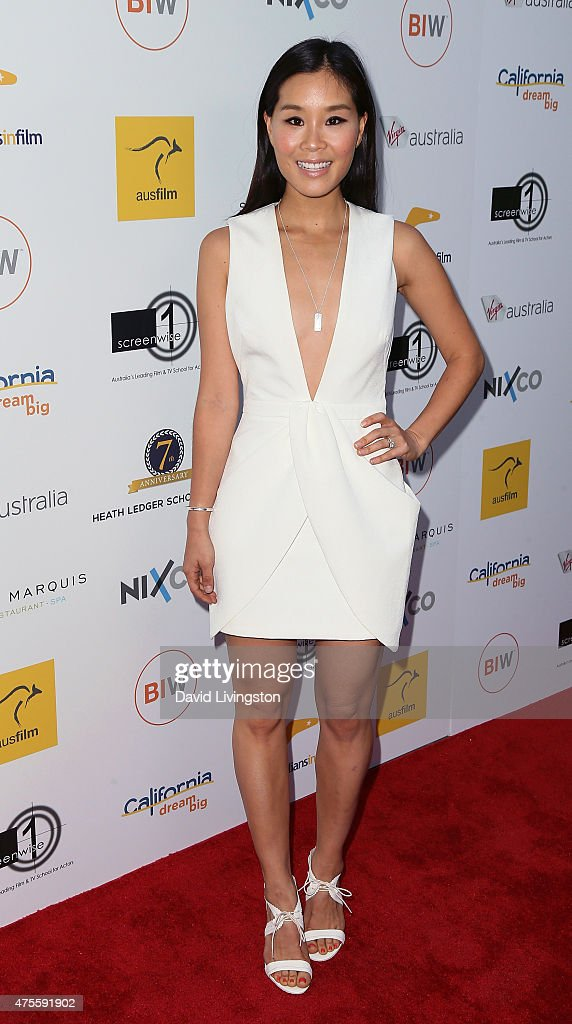 Actress Alicia Hannah attends Australians In Film Heath Ledger Scholarship Announcement Dinner at Sunset Marquis Hotel & Villas on June 1, 2015 in West Hollywood, California.