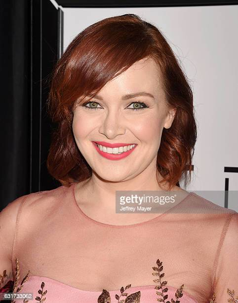 Actress Alicia Malone attends the 42nd annual Los Angeles Film Critics Association Awards at InterContinental Los Angeles Century City on January 14...