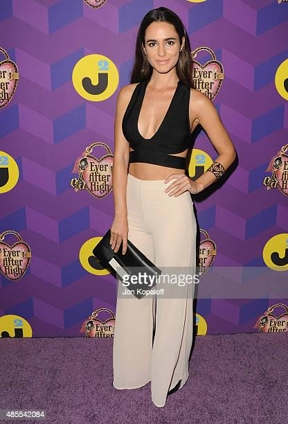 Actress Alicia Sanz arrives at Just Jared's Way To Wonderland Presented By Ever After High at Greystone Manor Supperclub on August 27 2015 in West...