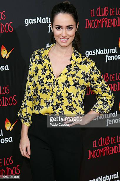 Actress Alicia Sanz attends 'El Club de los Incomprendidos' Premiere on December 1 2014 in Madrid Spain