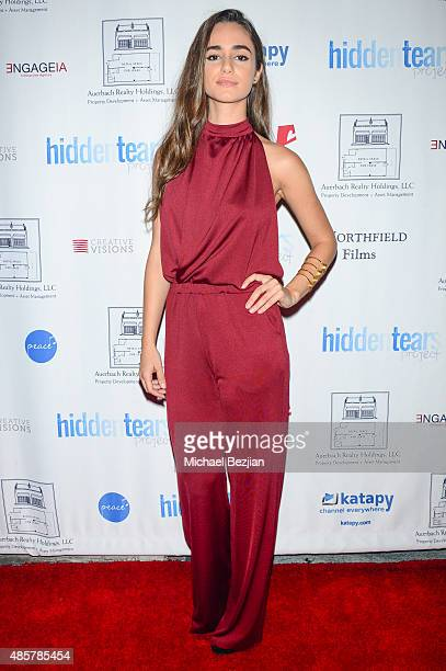 Actress Alicia Sanz attends Hidden Tears project launch at Sofitel Hotel on August 29 2015 in Los Angeles California