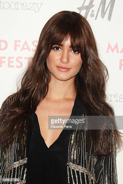 Actress Alicia Sanz attends Madrid Fashion Festival photocall at Centrocentro on November 6 2014 in Madrid Spain