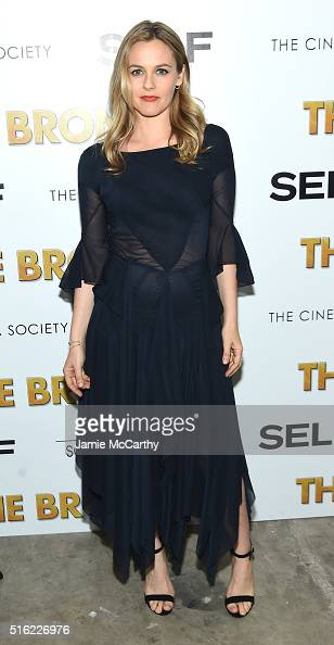 Actress Alicia Silverstone attends a screening of Sony Pictures Classics' 'The Bronze' hosted by Cinema Society SELF at Metrograph on March 17 2016...
