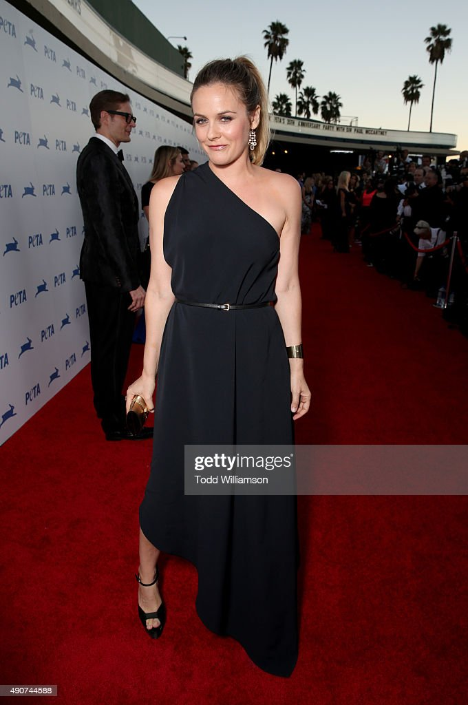 Actress Alicia Silverstone attends PETA's 35th Anniversary Party at Hollywood Palladium on September 30, 2015 in Los Angeles, California.
