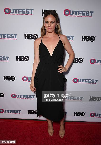 Actress Alicia Silverstone attends the 2016 Outfest Los Angeles screening of 'King Cobra' and the presentation of the James Schamus Ally Award at...