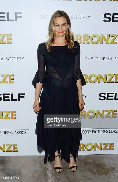 Actress Alicia Silverstone attends The Cinema Society SELF host a screening of Sony Pictures Classics' 'The Bronze' at Metrograph on March 17 2016 in...
