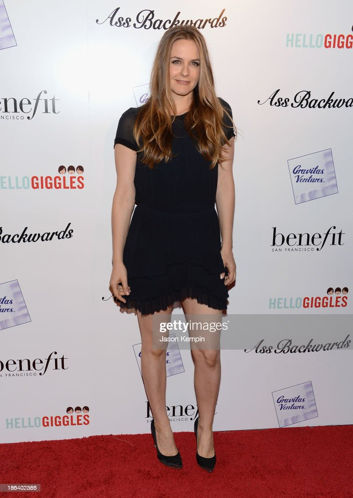 Actress <a gi-track='captionPersonalityLinkClicked' href=/galleries/search?phrase=Alicia+Silverstone&family=editorial&specificpeople=202861 ng-click='$event.stopPropagation()'>Alicia Silverstone</a> attends the premiere of Gravitas Ventures' 'Ass Backwards' at the Vista Theatre on October 30, 2013 in Los Angeles, California.