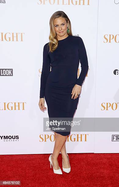Actress Alicia Silverstone attends the 'Spotlight' New York premiere at Ziegfeld Theater on October 27 2015 in New York City