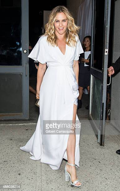 Actress Alicia Silverstone is seen arriving at Christian Siriano fashion show during Spring 2016 New York Fashion Week on September 12 2015 in New...