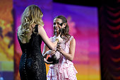 Actress Alicia Vikander accepts the Rising Star Award from actress Amber Heard onstage at the 27th Annual Palm Springs International Film Festival...