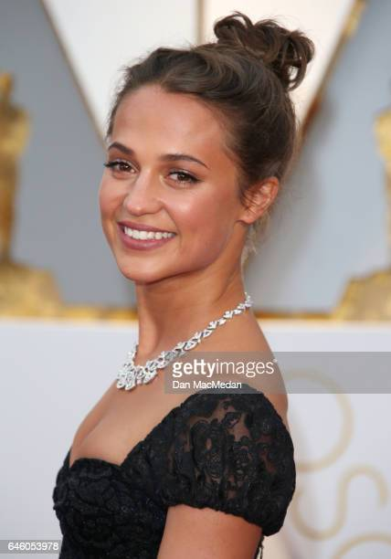 Actress Alicia Vikander arrives at the 89th Annual Academy Awards at Hollywood Highland Center on February 26 2017 in Hollywood California