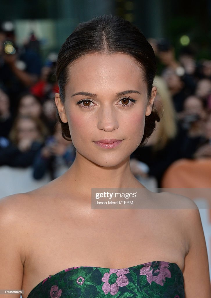 Actress Alicia Vikander arrives at 'The Fifth Estate' premiere during the 2013 Toronto International Film Festival on September 5, 2013 in Toronto, Canada.