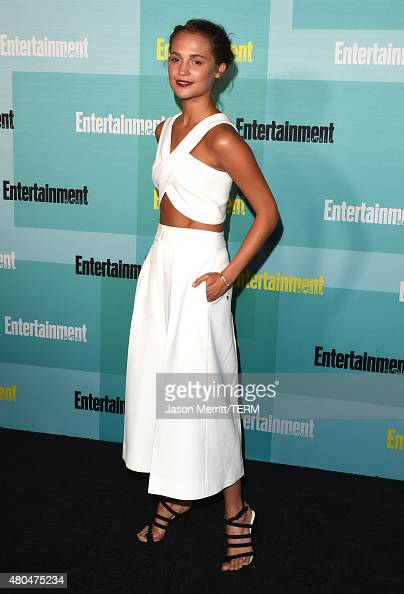 Actress Alicia Vikander attends Entertainment Weekly's ComicCon 2015 Party sponsored by HBO Honda Bud Light Lime and Bud Light Ritas at FLOAT at The...