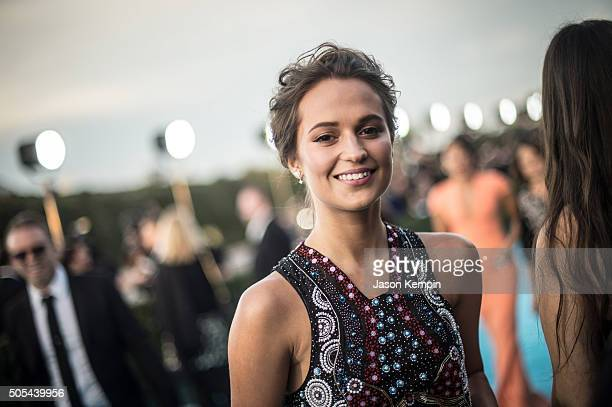 Actress Alicia Vikander attends the 21st Annual Critics' Choice Awards at Barker Hangar on January 17 2016 in Santa Monica California