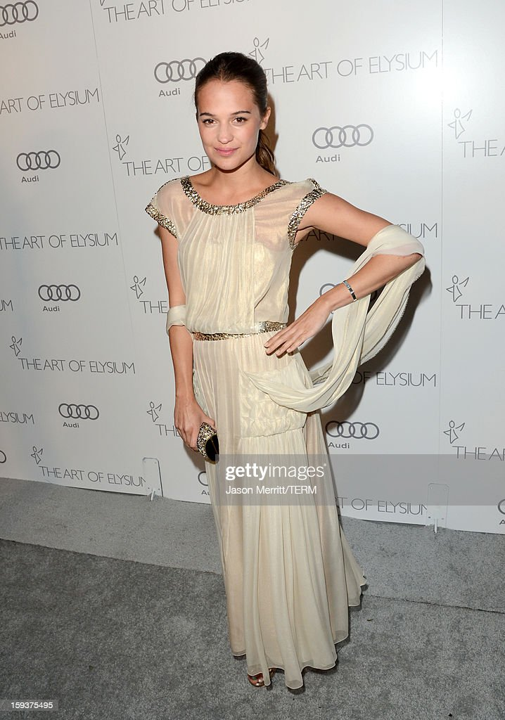 Actress Alicia Vikander attends The Art of Elysium's 6th Annual HEAVEN Gala presented by Audi at 2nd Street Tunnel on January 12, 2013 in Los Angeles, California.