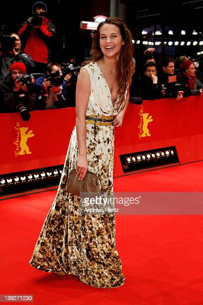 Actress Alicia Vikander attends the Closing Ceremony during day ten of the 62nd Berlin International Film Festival at the Berlinale Palast on...