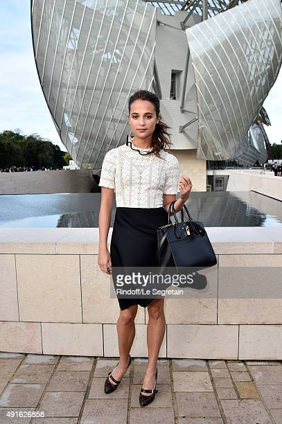 Actress Alicia Vikander attends the Louis Vuitton show as part of the Paris Fashion Week Womenswear Spring/Summer 2016 on October 7 2015 in Paris...