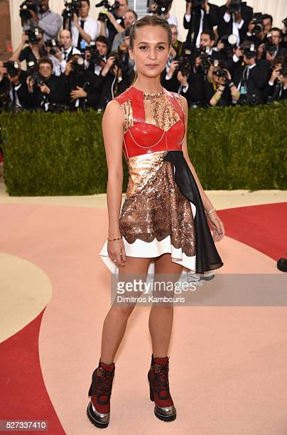 Actress Alicia Vikander attends the 'Manus x Machina Fashion In An Age Of Technology' Costume Institute Gala at Metropolitan Museum of Art on May 2...