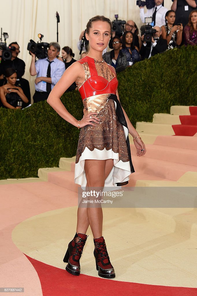 Actress Alicia Vikander attends the 'Manus x Machina: Fashion In An Age Of Technology' Costume Institute Gala at Metropolitan Museum of Art on May 2, 2016 in New York City.