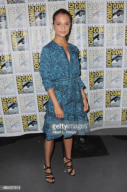 Actress Alicia Vikander attends the Warner Bros 'The Man from UNCLE' presentation during ComicCon International 2015 at the San Diego Convention...