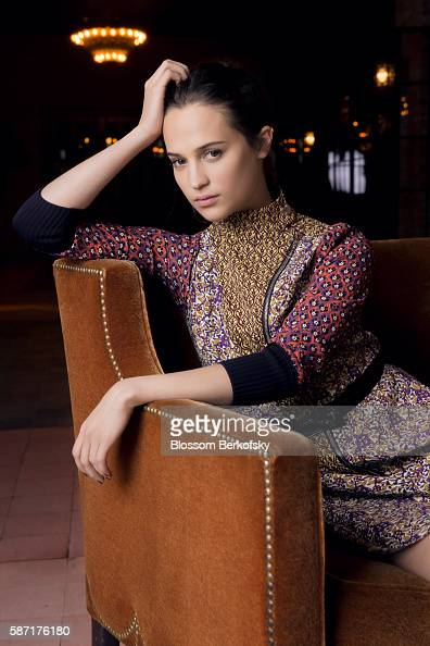 Actress Alicia Vikander is photographed for The Hollywood Reporter on April 3 2015 at The Bowery Hotel in New York City PUBLISHED IMAGE