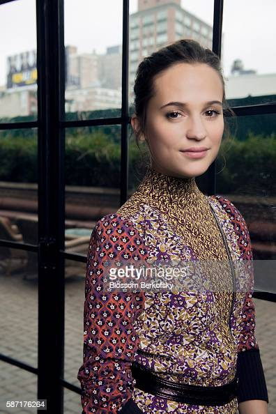Actress Alicia Vikander is photographed for The Hollywood Reporter on April 3 2015 at The Bowery Hotel in New York City