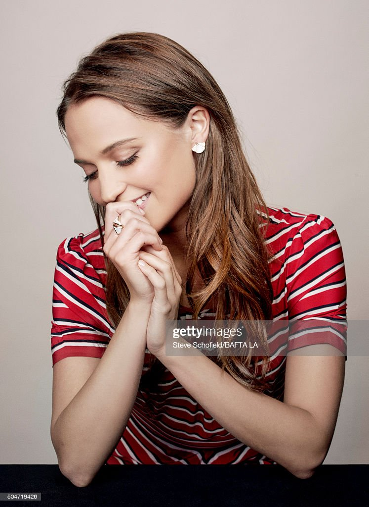 Actress <a gi-track='captionPersonalityLinkClicked' href=/galleries/search?phrase=Alicia+Vikander&family=editorial&specificpeople=7246025 ng-click='$event.stopPropagation()'>Alicia Vikander</a> poses for a portrait at the BAFTA Los Angeles Awards Season Tea at the Four Seasons Hotel on January 9, 2016 in Los Angeles, California.