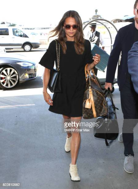 Actress Alicia Vikander seen on July 25 2017 in Los Angeles California