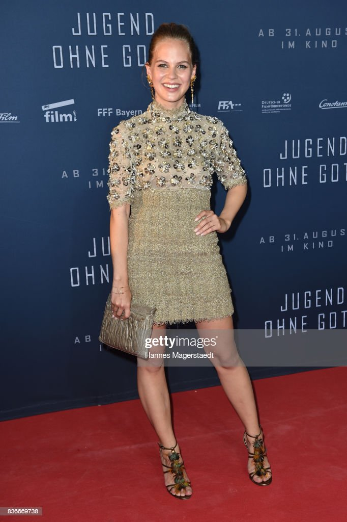 Actress Alicia von Rittberg (in Chanel, dress, necklace and handbag) during the 'Jugend ohne Gott' premiere at Mathaeser Filmpalast on August 21, 2017 in Munich, Germany.