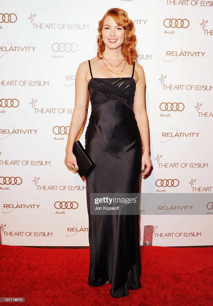 Actress Alicia Witt arrives at the Art Of Elysium's 5th Annual Heaven Gala at Union Station on January 14, 2012 in Los Angeles, California.