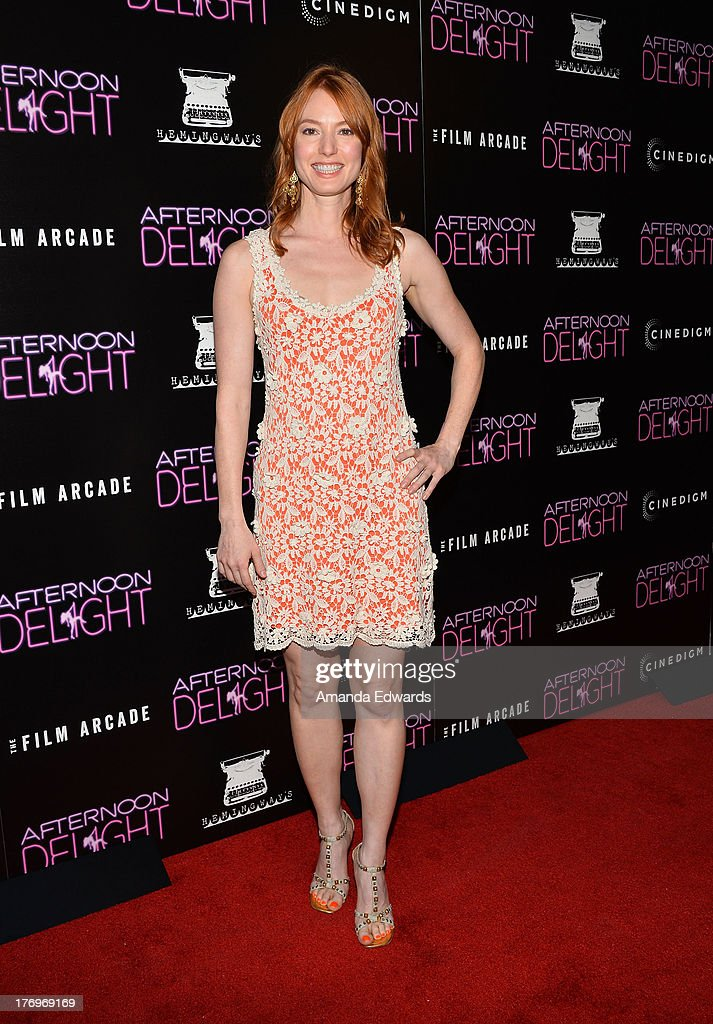 Actress Alicia Witt arrives at the Los Angeles premiere of 'Afternoon Delight' at ArcLight Hollywood on August 19, 2013 in Hollywood, California.