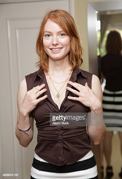 Actress Alicia Witt attends Kari Feinstein's Music Festival Style Lounge at Sunset Marquis Hotel Villas on April 7 2015 in West Hollywood California