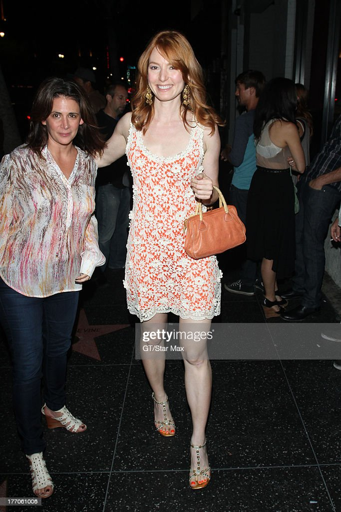 Actress Alicia Witt is seen on August 19, 2013 in Los Angeles, California.